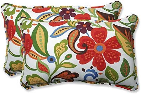 Pillow Perfect Outdoor/Indoor Wildwood Garden Rectangular Throw Pillow Set of 2