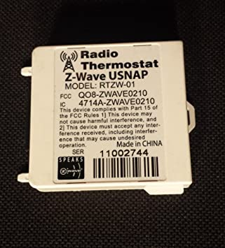 Termostato Z-Wave usnap Module rtzw-01, Modelo: rtzw-01,