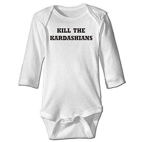 [Raymond Kill The Kardashians Long Sleeve Bodysuit Baby Onesie White 6 M] (Forrest Gump Kid Costume)