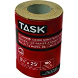 Task Tools T32318 3-2/3-Inch by 25 Feet Aluminum Oxide Sandpaper Roll, 180 Grit