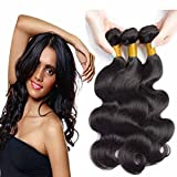 Uniwigs® 3 Bundles; Peruvian Virgin Sew in Weft Weave Hair Extension 300 Grams 4a Grade Quality; Body Wave (12 14 16) offers