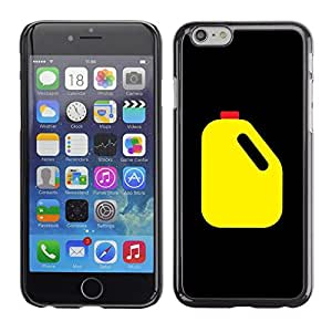 Planetar® ( Oil Racing Canister Yellow Black Art ) Apple iPhone 6 / 6S (4.7 inches!!!) Fundas Cover Cubre Hard Case Cover