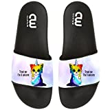 Cartoon Trust Me I'm A Unicorn Cat Summer Slide Slippers For Boy Girl Outdoor Beach Sandal Shoes size 2