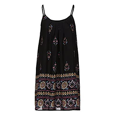 Muranba Womens Dresses Casual Sleeveless Chiffon Print Boho Print Short Mini Dress Sundress
