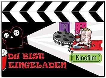Schön Einladungskarten Kindergeburtstag Kino Kinoparty Film   8 Stück   Zum  Ausfüllen