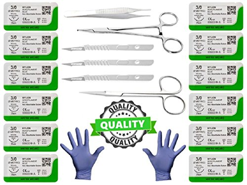19pk-training-sutures-threads-with-needle-plus-practice-accessories-for-students-suture-kit-suture-p