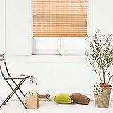 Natural Bamboo Roll Up Window Blind Roman Shade Sun Shade WB-9A1 (W24' X H72')