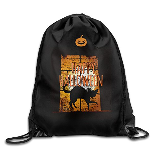 Maurm Halloween Night He Came Home Black Cat Drawstring Bags Fashion Backpack Shoulder Bags Gym Sport (Halloween 1 He Came Home)