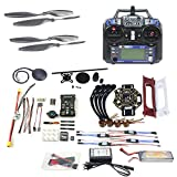 Cheap QWinOut DIY FPV Drone Quadcopter 4-axle Aircraft Kit :450 Frame + PXI PX4 Flight Control + 920KV Motor + GPS + FS-i6 Transmitter + Battery