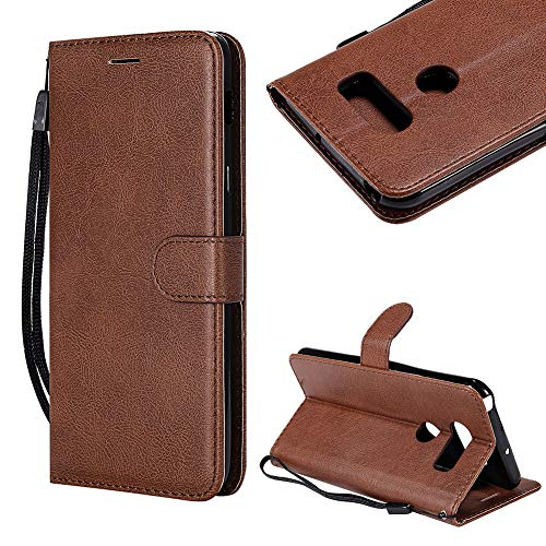 Cistor Strap Wallet Case for LG Q6,Stylish Solid Color Folio Flip Cover Shockproof PU Leather Stand Protective Case with Card Slot Magnetic Closure for LG Q6 + Free Ring ()