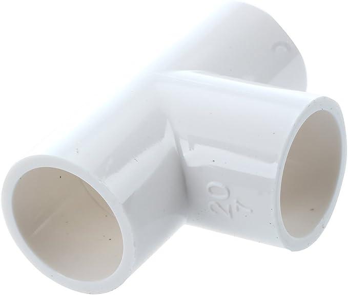 RETYLY PVC Rohr Steckverbinder 10 Teile 20mm Innen Durchmesser 90 Grad Winkel Weiss
