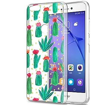 Eouine Funda Huawei P8 Lite 2017, Cárcasa Silicona 3D Transparente con Dibujos Diseño Suave Gel TPU [Antigolpes] de Protector Bumper Case Cover Fundas ...