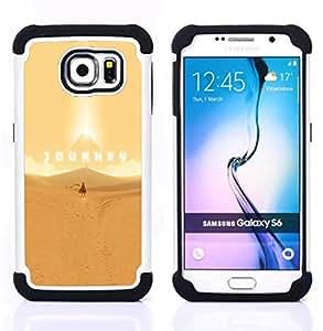 """Samsung Galaxy S6 / SM-G920 - 3 en 1 impreso colorido de Altas Prestaciones PC Funda chaqueta Negro cubierta gel silicona suave (Viaje juego"""")"""