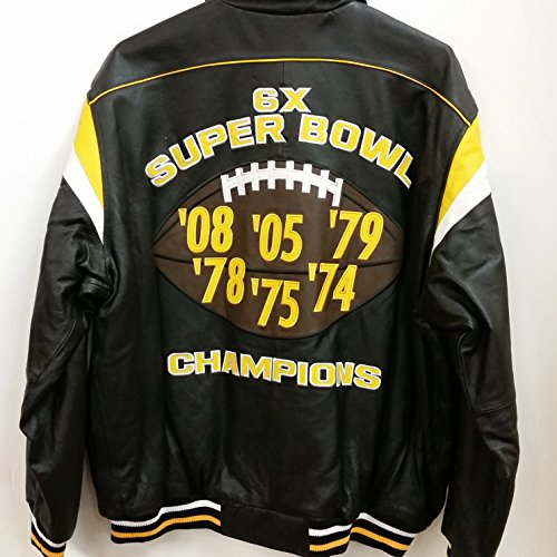finest selection d2f31 d37eb NFL Men's Genuine Leather Jacket, Pittsburgh Steelers 6-Time ...