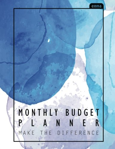 Download Monthly Budget Planner: Watercolor Large budget planner, (8.5x11 inches) : Expense tracker for 24 Months : Pastel Watercolor Design (Monthly Bill Tracker) (Volume 3) pdf
