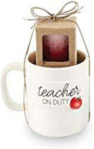 Mud Pie APPLE TEACHER MUG AND SHOT SET, mug 12 oz | shot 2 oz
