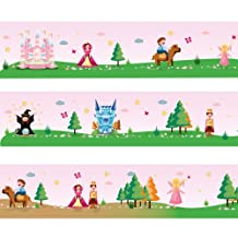 """Wandkings border """"Princess World"""" Length: 177 inch, self-adhesive, for children's rooms"""