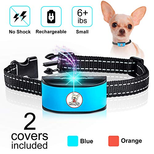 Prollipop Small Dog Bark Collar Rechargeable - Anti Barking Collar for Small Dogs - Smallest Most Humane Stop Barking Collar - Dog Training No Shock Bark Collar Waterproof - Safe Pet Bark Device (Best Dogs For Apartments No Barking)