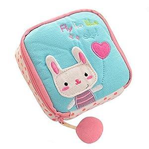 Gotoole Women Cotton Cartoon Sanitary Napkin Bag Tampon Sanitary Pad Holder Bag