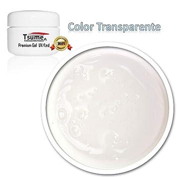 Gel UV-Led Color transparente - Para hacer uñas postizas, manicura, pedicura, uñas de gel (Extra Grande 50 ml): Amazon.es: Belleza