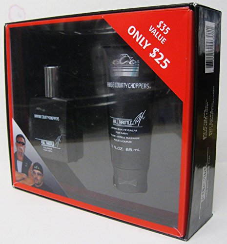 Orange County Choppers Full Throttle Gift Set 1oz Cologne 2.3oz Aftershave