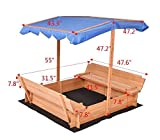 K&A Company Outdoor Retractable Sandbox Canopy