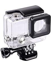 flycoo Beschermhoes waterdichte behuizing met lens voor Gopro Hero 3 + Hero 4 actiecamera met bevestigingsschroeven en basisbescherming onder water 45 m
