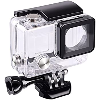 JL Replacement Waterproof Underwater Housing Case Cover with Bracket for GoPro Hero 4, gopro 3+, 3