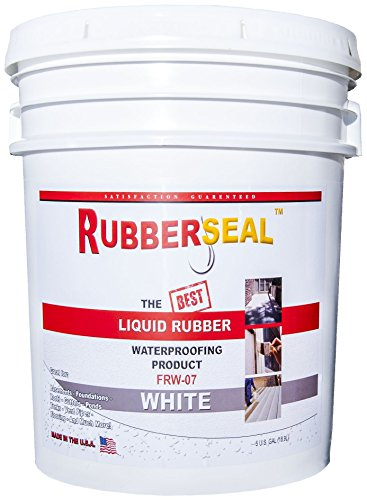 (Rubberseal Liquid Rubber Waterproofing and Protective Coating - Roll On WHITE (5 Gallons))