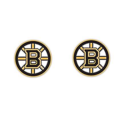784077d5669 Amazon.com   NHL Boston Bruins Logo Post Earrings   Sports Fan ...