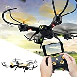 New Style JJR/C D61 Unmanned RC Aerial Photography 6 Axis Quadcopter 3D Rollover Headless Aircraft With LED Light (Black) A key to take off