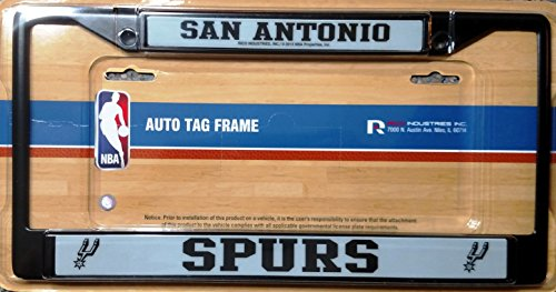 Rico NBA San Antonio Spurs Black License Plate Frame, One Size, Black by Rico