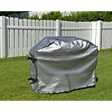 Weber Summit E-470 Gas Grill Custom Fitting Outdoor Grey Waterproof Cover - 66''W x 26.5''D x 50''H