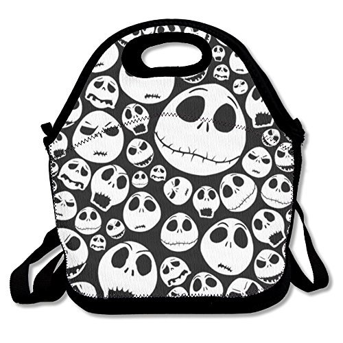 Halloween Skull Travel Picnic Lunch Bag Lunchboxes Outdoor Lunch Box Bag Lunch Tote Lunch Pouch Handbag -