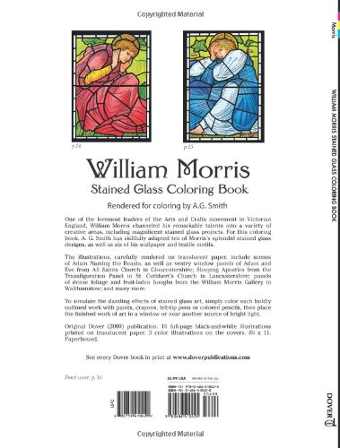 william morris stained glass coloring book dover design stained glass coloring book william morris a g smith 0800759410422 amazoncom books