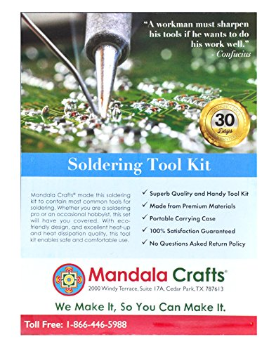 Mandala Crafts 110V 60W Small Soldering Iron Gun Tips Wire Sucker Stand Solder Tool Box Kit (Deluxe) by Mandala Crafts (Image #8)