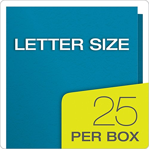 Oxford Twin Pocket Folders with Fasteners, Letter Size, Light Blue, 25 per Box (57701) Photo #6