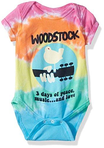 Liquid Blue Baby Woodstock Banded Short Sleeve Onesie, tie/dye, 0-6 Months -