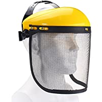 Large Steel Metal Mesh Visor Safety Helmet Hat for Chainsaw Brushcutter Full Face Protector Mask