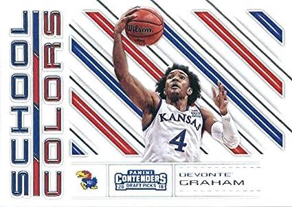 e83867ae4dfe 2018-19 Panini Contenders Draft Picks School Colors  31 Devonte  Graham  Kansas Jayhawks
