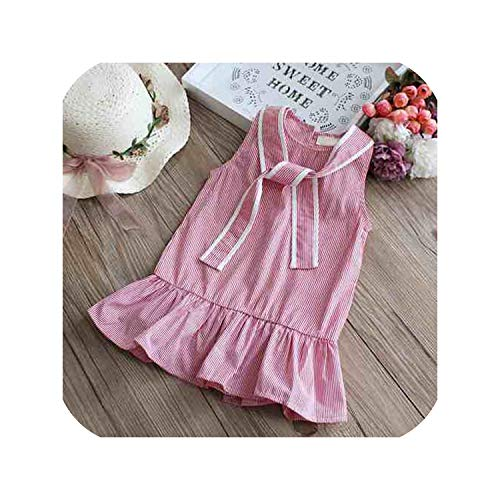 Summer Princess Dress Cotton Baby Girl Embroidered Peach Vest Dress Infant Dress,Style7-P,5T]()