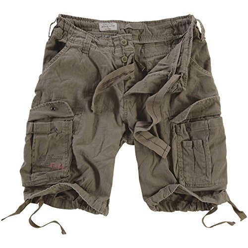 Surplus Mens Airborne Vintage Shorts Gray