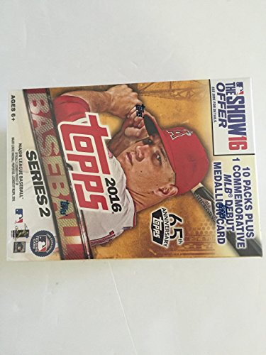 2016 Topps Series 2 Baseball Blaster Box - 10 packs plus 1 MLB Debut Medallion