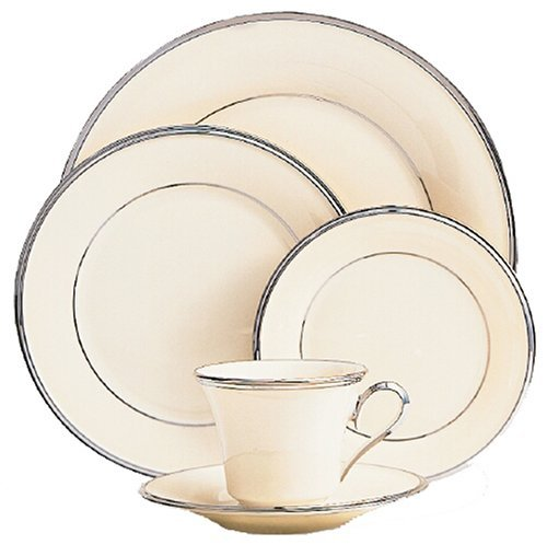 Banded China Platinum Ivory Cup - Lenox Solitaire Platinum Banded Ivory China Cup by Lenox