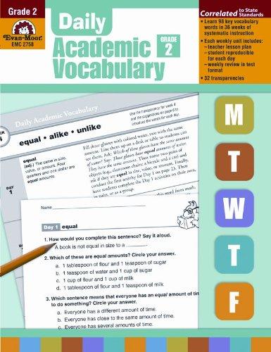 Daily Academic Vocabulary, Grade 2 Download by Evan Moor pdf