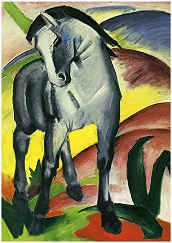 Künstler-Schreibblock / Briefblock - Deckblatt mit Motiv von Franz Marc: Blaues Pferd