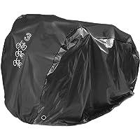 Fietshoes, zwarte bescherming voor 3 fietsen, fietsgarage, stoffen cover, met uv-bescherming, 205x108x115cm