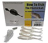 Chatterbait Kit - Z-Man 3/8oz Chatterbait + Z-Man Razor ShadZ + How to Fish the Chatterbait Guide (White)