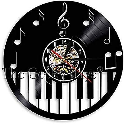 Lámpara de mesa 3d teclado de piano disco de vinilo relojes de ...