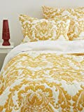 Be-you-tiful Home Damask Quilt, Queen, Mustard